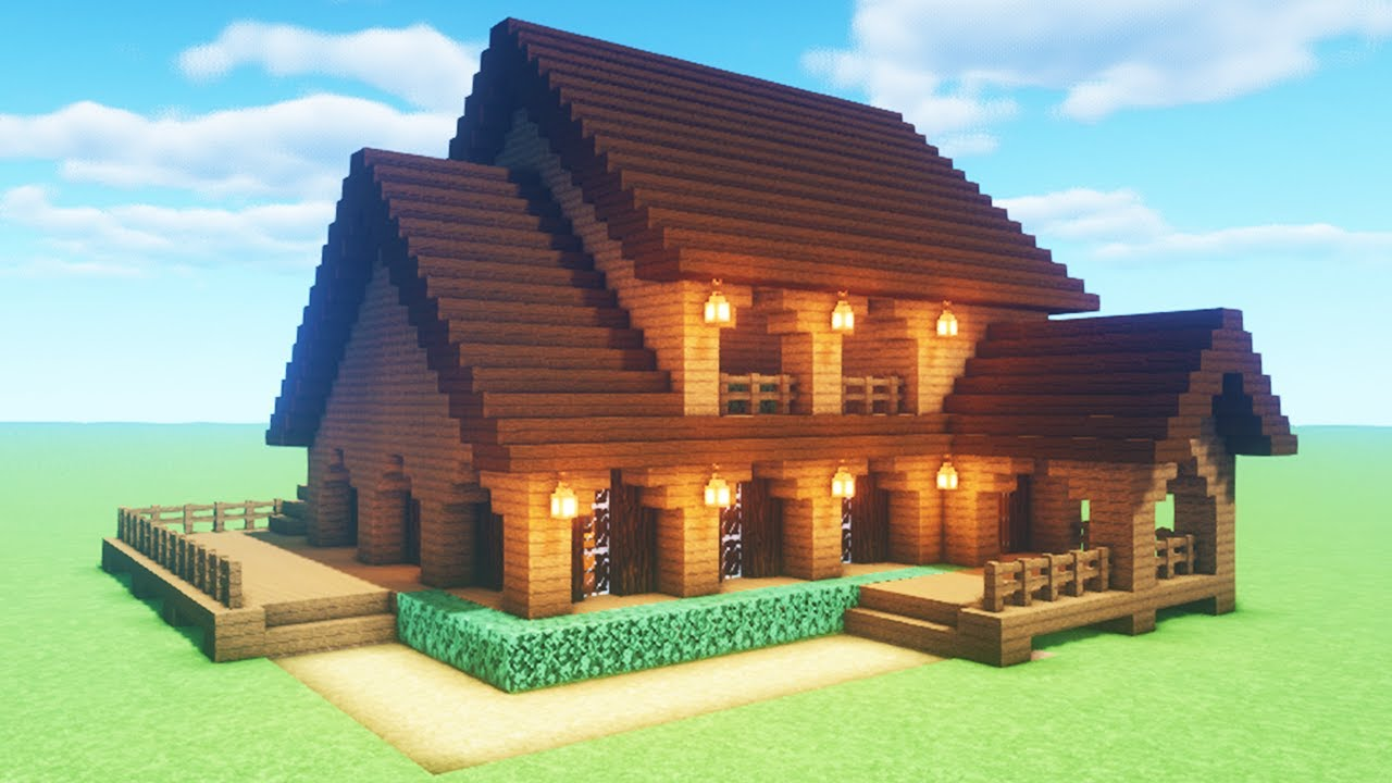 Minecraft Tutorial How To Make A Spruce Wood House 2020 Tutorial Youtube