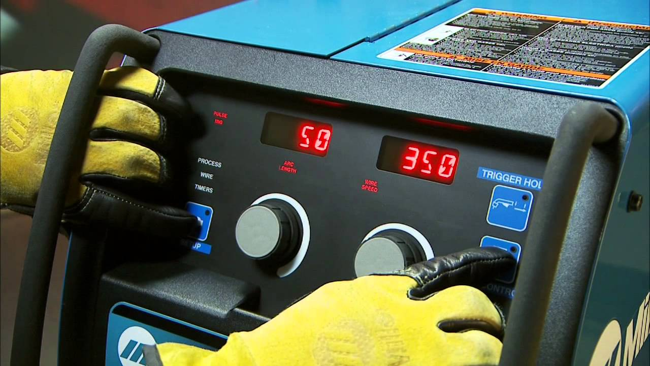 how to set up the millermatic 350p aluminum mig welder Lincoln 350MP
