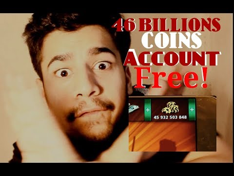 8 ball Pool (Level 998) i Will Give You 46 Billions Coins Account in 8 Ball Pool For Free!