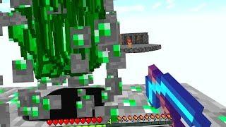 Viele Emeralds durch Glück 1000 Diamant Spitzhacke in Minecraft Lucky Block Bedwars