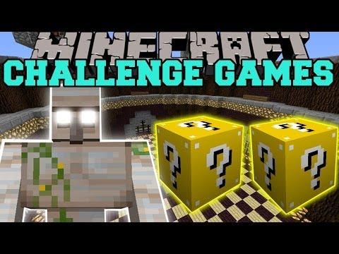 Minecraft: MUTANT IRON GOLEM CHALLENGE GAMES - Lucky Block Mod - Modded Mini-Game