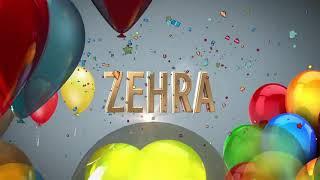 Dogum gunun kutlu olsun Zehra