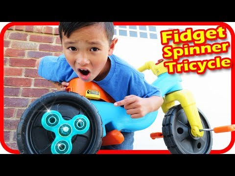 Thumbnail: I put FIDGET SPINNERS on My Tricycle, Accidents Will Happen - TigerBox HD