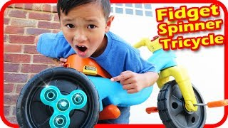 I put FIDGET SPINNERS on My Tricycle, Accidents Will Happen - TigerBox HD thumbnail