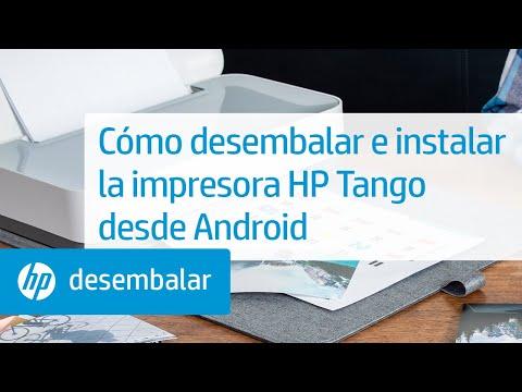 Cómo desembalar e instalar la impresora HP Tango desde Android | Impresora HP Tango | HP