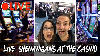 🔴 LIVE Shenanigans in HIGH LIMIT 🎰 Brian Christopher and Slot Queen