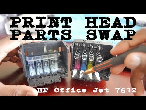 HP office Jet 7612 Removing and installing parts from old printhead to new printhead