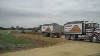 Kenworth / Mack truck and dog tipping compilation