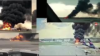 Смотреть видео Катастрофа самолета Москва-Мурманск  в Шереметьево полное видео событий онлайн