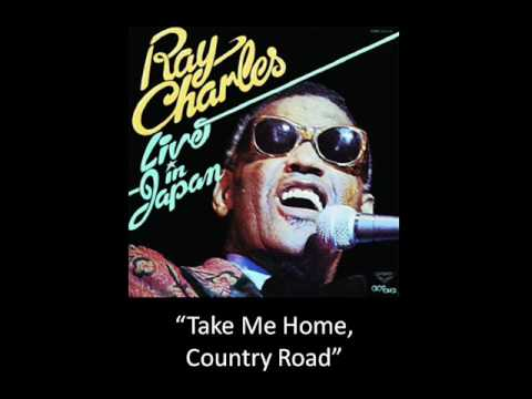 "Ray Charles sings ""Take Me Home, Country Road"""