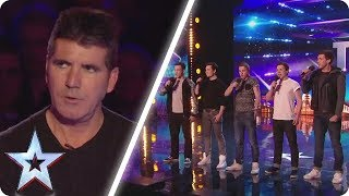 Simon rolled his eyes at this unique boyband | Britain\'s Got Talent Unforgettable Audition