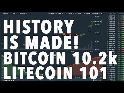 BITCOIN HISTORY MADE! 10k LITECOIN $100!!!!!! LIVE!