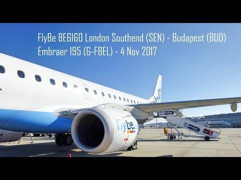 FlyBE - BE6160 - London Southend to Budapest - ERJ195/LR