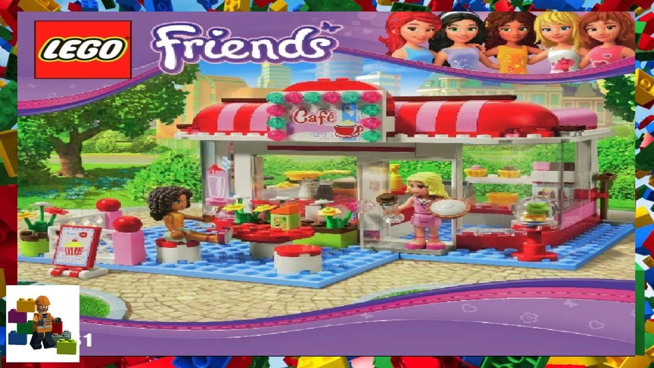 Lego Instructions Lego Friends 3061 City Park Cafe Youtube