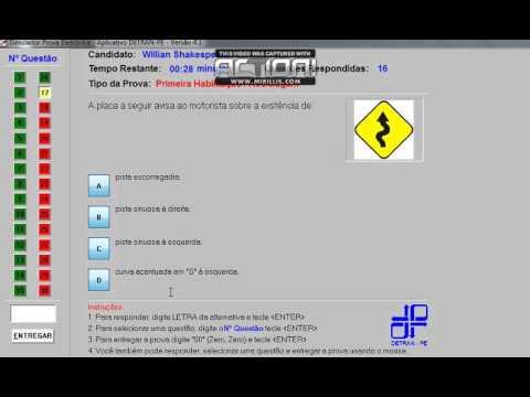 simulado do detran pe 2012