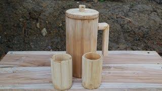 Cara Membuat Tempat Kopi/Teh Futuristik dari Bambu.