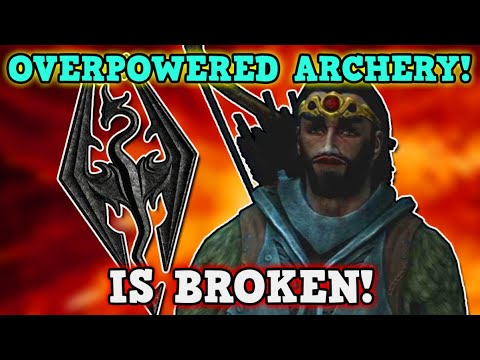 SKYRIM IS A PERFECTLY BALANCED GAME WITH NO EXPLOITS - Can You Beat Skyrim With Only A Bow Challenge