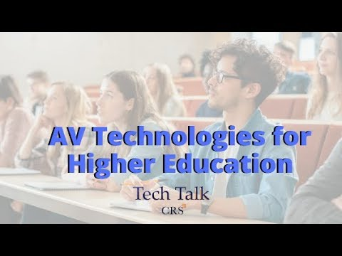 Exploring Audiovisual Technologies for Higher Education