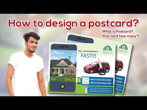 How to Create Design a postcard design for Illustrator? #How