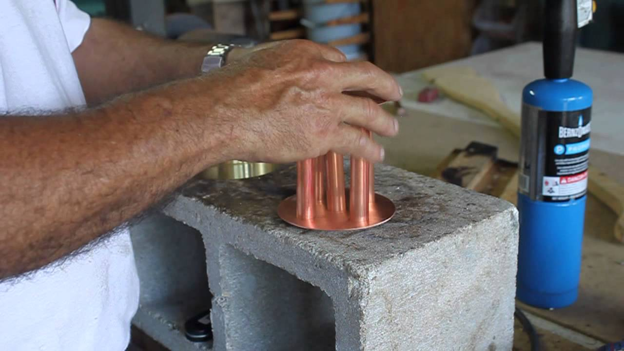 Dephlegmator fabrication video 2 for making Copper Moonshine Stills