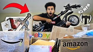 Someone Sent Me A 2000$ SURVIVAL OFF-ROADING SCOOTER!! (EPIC MYSTERY PACKAGES) *DOOMSDAY PREPPERS*