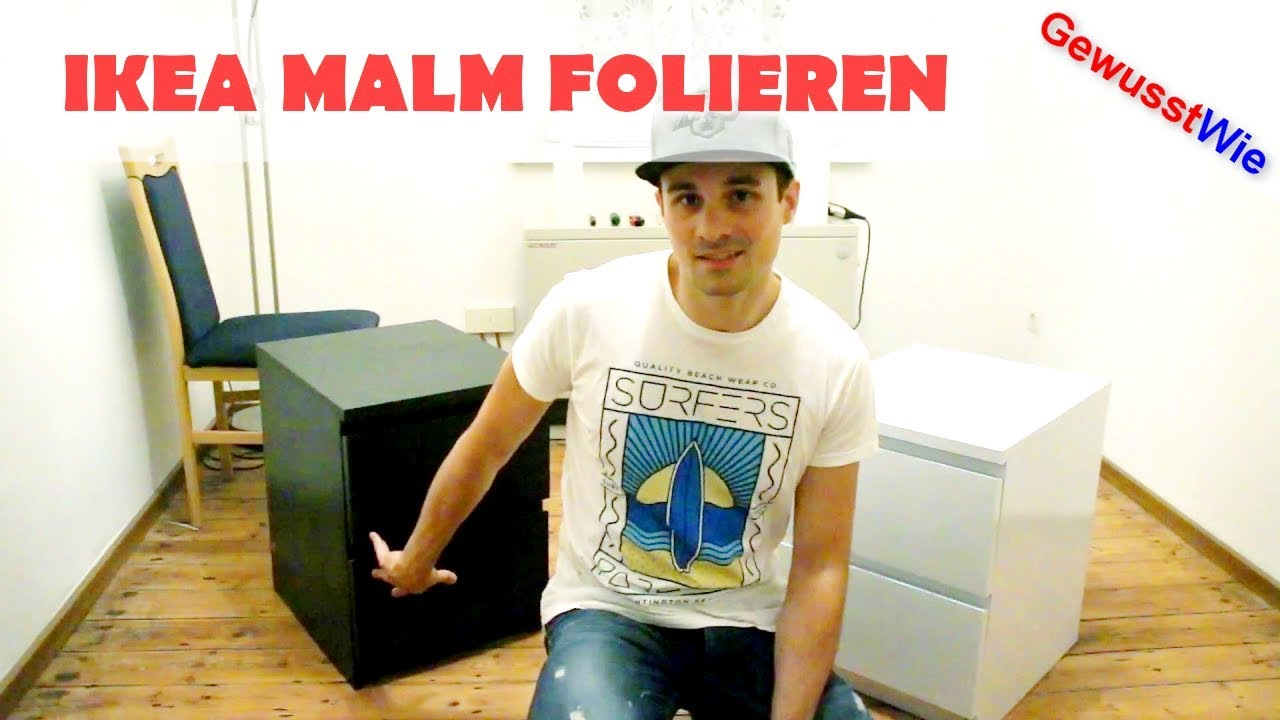 ikea malm folieren kommode schrank folieren learning by doing youtube. Black Bedroom Furniture Sets. Home Design Ideas