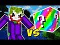 CORINGA VS. LUCKY BLOCK ARCO-ÍRIS (MINECRAFT LUCKY BLOCK CHALLENGE JOKER VS. RAINBOW)