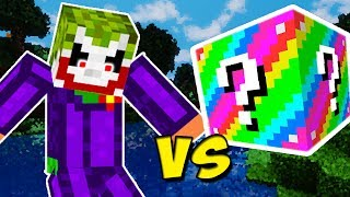 CORINGA VS. LUCKY BLOCK ARCO-ÍRIS (MINECRAFT LUCKY BLOCK CHALLENGE JOKER VS. RAINBOW)