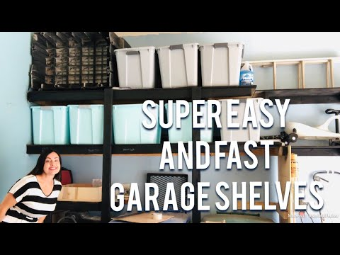 Easy and Fast Garage Shelves - DIY organizing and storage