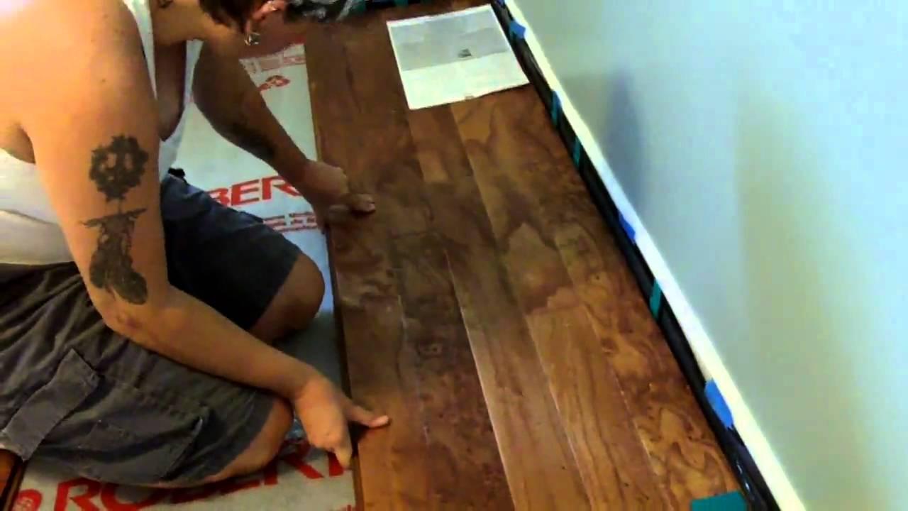 Elizabeth Installs Handscraped Engineered Hardwood Floor