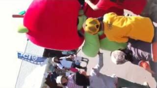 長野県のマスコット「アルクマ」が恐竜公園に出没!