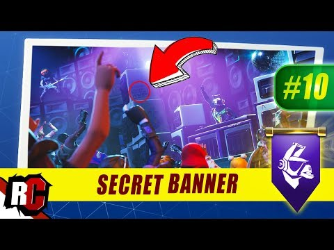 Secret Banner Location WEEK 10 Fortnite | Season 6 Hunting Party (Secret Battle Stars/Banners)