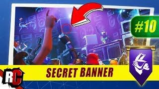 Secret Banner Location WEEK 10 Fortnite | Season 6 Hunting Party (Secret Battle Stars/Banners)