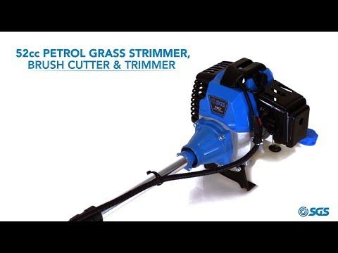 52cc Petrol Grass Strimmer / Brush Cutter / Trimmer - 2.2KW 3HP