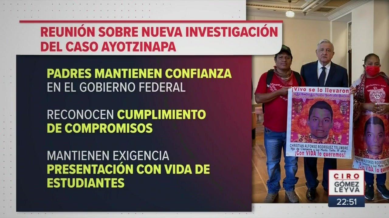 El presidente se reúne con padre de normalistas desaparecidos   Noticias con Ciro Gómez Leyva