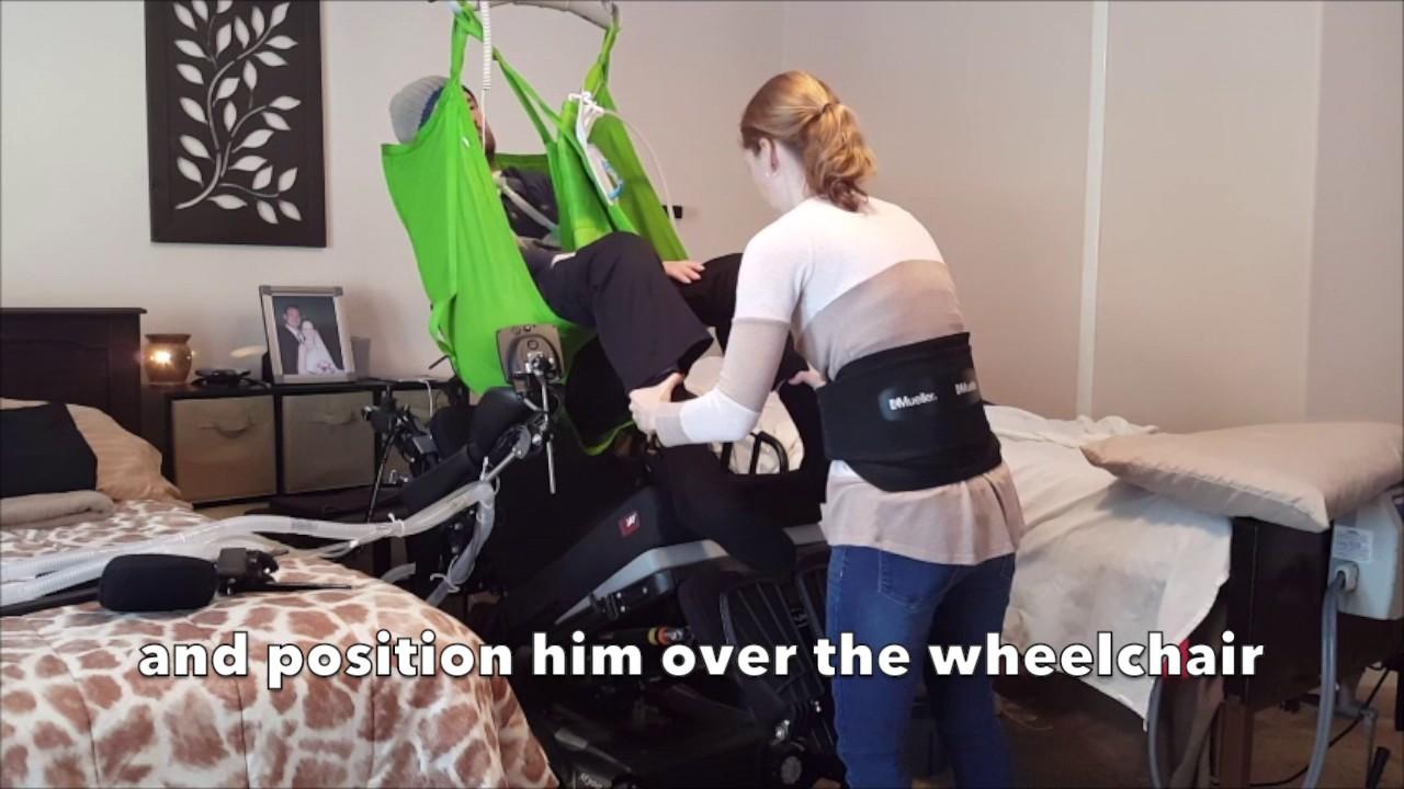 Caregiver Bed Transfer Of Ventilator Dependent