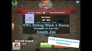 CWL Rising Season 4 Week 2 The Holy Cronut vs Boston Tea Party Clash of Clans