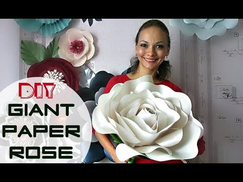 Free Standing Giant Flower | Giant paper rose | English subtitles