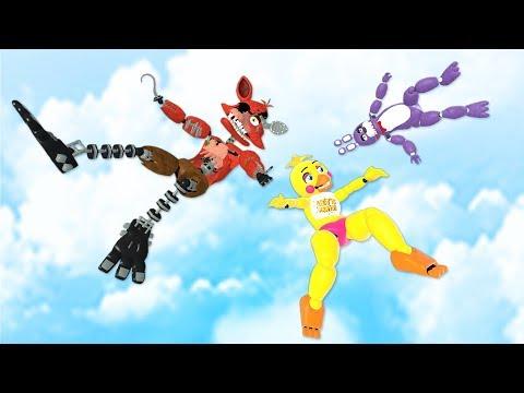 FNAF: Animatronics RAGDOLLS JUMPS \u0026 FALLS [GMOD] - Episode 40