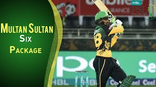 Multan Sultan Vs Peshawar Zalmi | All Sixes By Multan Sultan | PSL 2018