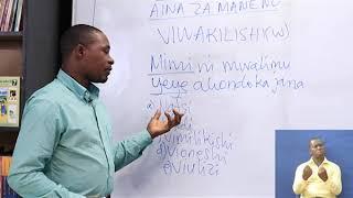 A  Kiswahili   Aina Za Maneno