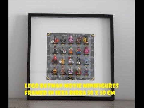 Lego Batman Movie Minifigures Framed In Ikea Ribba Frame