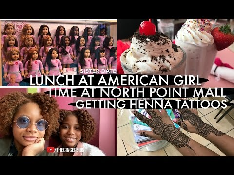 Lunch At American Girl, Time At North Point Mall & Getting Henna Tattoos | The Ginger Sibs
