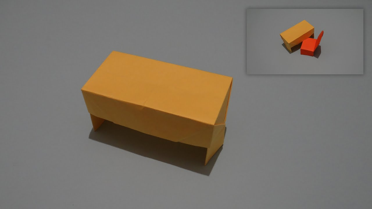 How To Make An Origami Desk Youtube