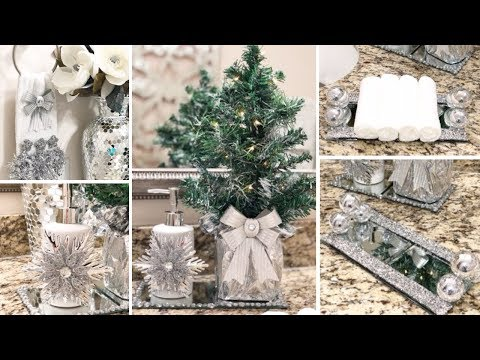 DIY Dollar Tree Holiday Glam Decor  | DIY Glam Bathroom Decor Ideas 2018