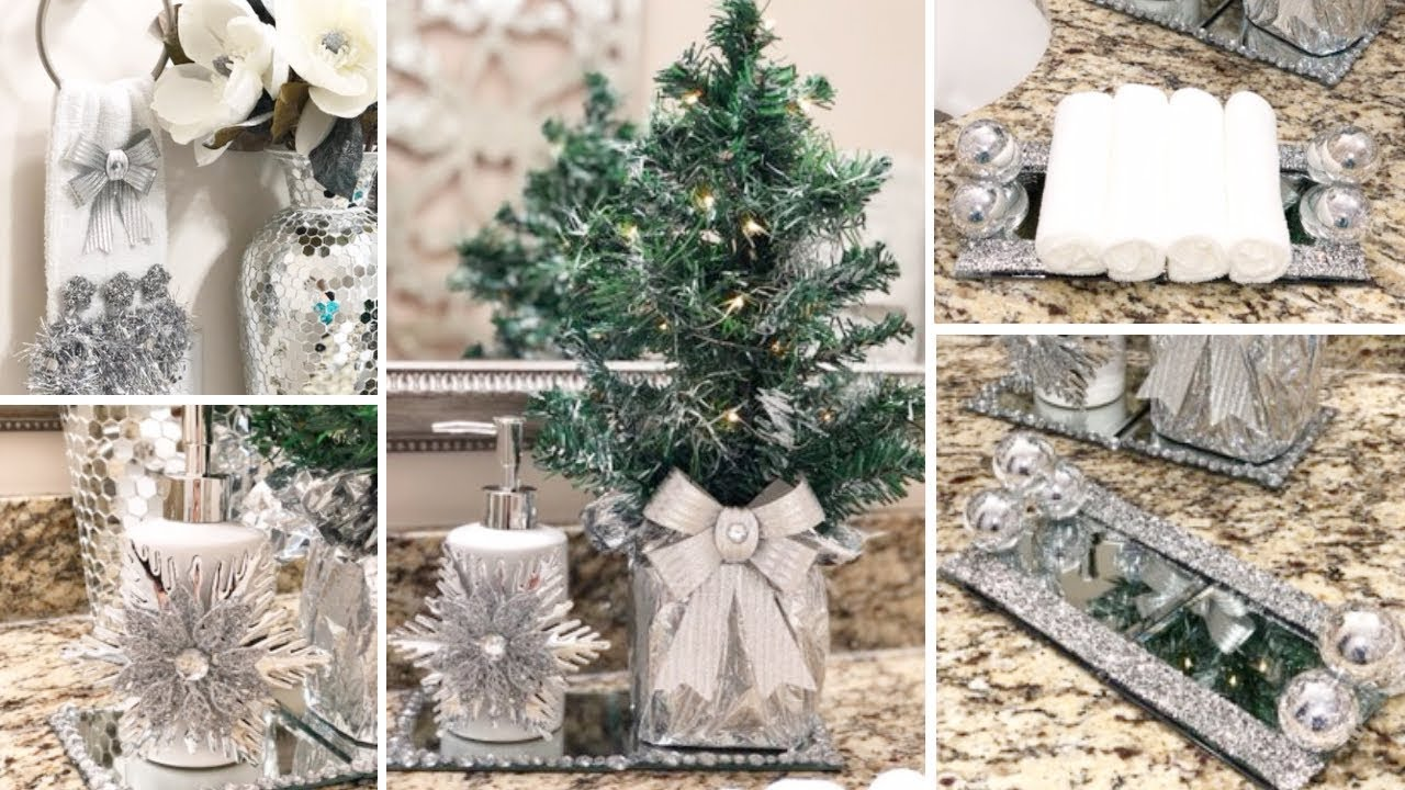 Diy Dollar Tree Holiday Glam Decor Diy Glam Bathroom Decor Ideas 2018 Youtube