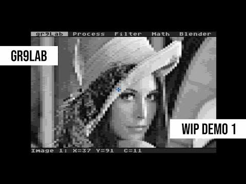 gr9Lab - image processing on Atari 8-bit computer (WIP demo 1)