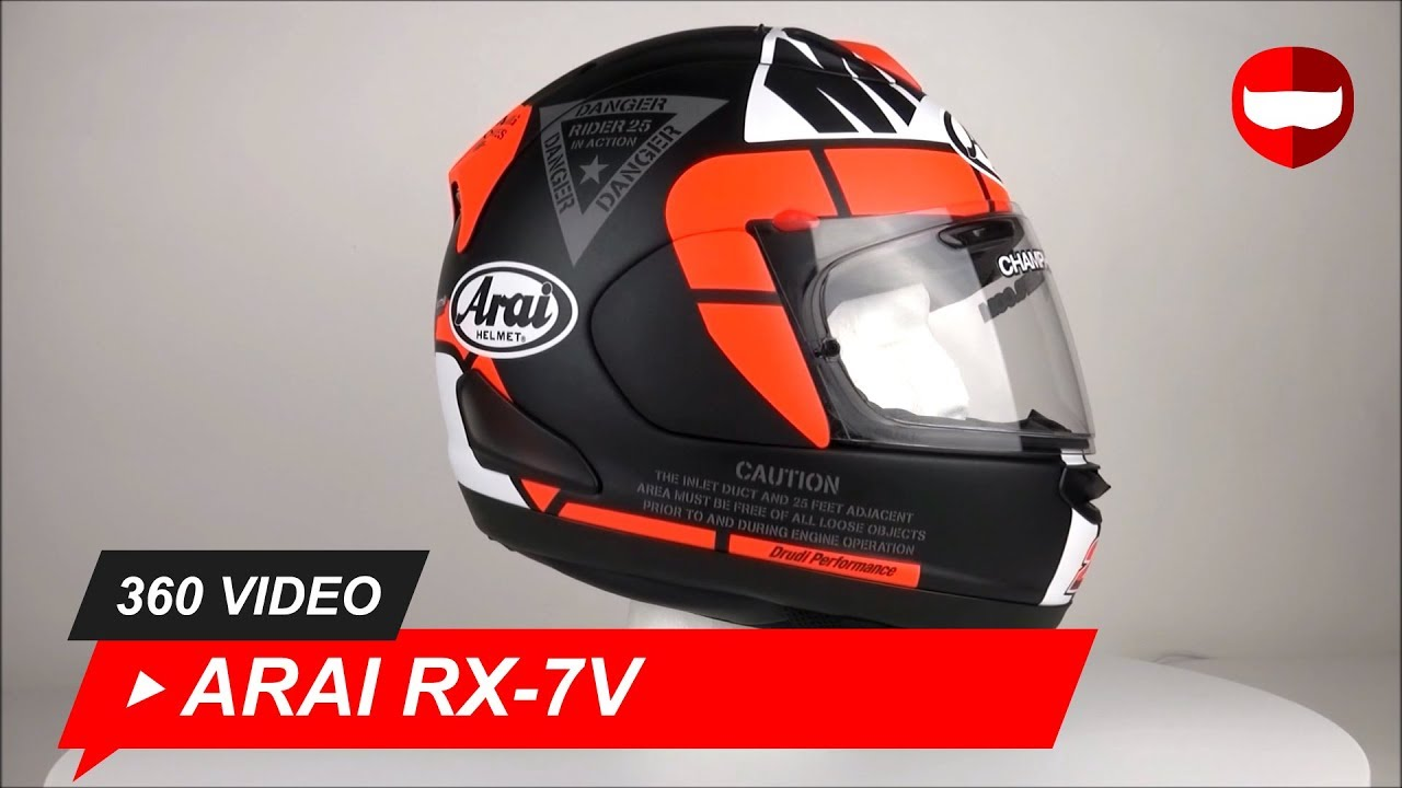 Arai RX-7V Vinales 25 Helm 360 Video - Champion Helmets ...