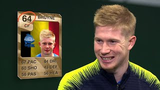 Kevin De Bruyne REACTS to his first ever FIFA Ultimate Team card!
