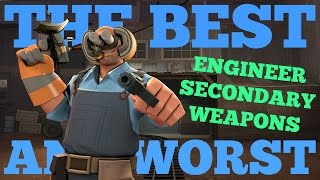 The Best and Worst: TF2 Engineer Secondary Weapons